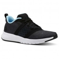 Reebok Print Running Shoes For Women Black/Grey/Blue/White (104ASJEV)