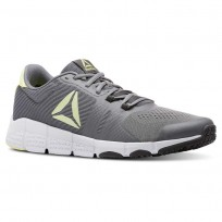 reebok trainflex2.0 αθλητικα παπουτσια ανδρικα λεμόνι/ασπρα (110gpxua)