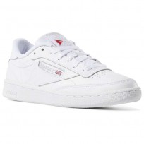 Reebok Club C 85 Shoes Womens White/Light Grey (113JSPYN)