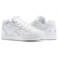 Reebok Royal Prime Shoes Kids White/Silver (117GFHVD)