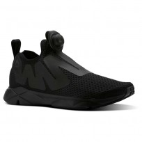 Reebok Pump Supreme Lifestyle Shoes Mens Reveal-Black/Coal/Ash Grey (122HGEDV)