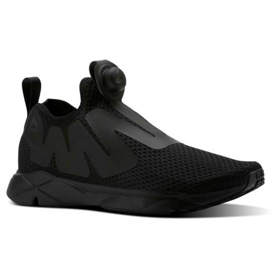 Reebok Pump Supreme Lifestyle Shoes Mens Reveal-Black/Coal/Ash Grey (122HGEDV)