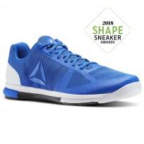 Reebok Speed Training Shoes Mens Vital Blue/Black/White/Ash Grey (122IQFAL)