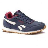 Reebok Royal Glide Shoes Kids Collegiate Navy/Cranberry Red/Chalk/Gum (122RPLOC)
