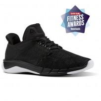 Reebok Fast Flexweave Running Shoes Womens Black/Coal/Flint Grey/White (123NEMOB)
