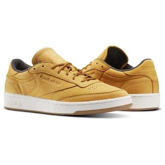 Reebok Club C 85 Shoes Mens Golden Wheat/Urban Grey/Chalk-Gum (125NSKFM)