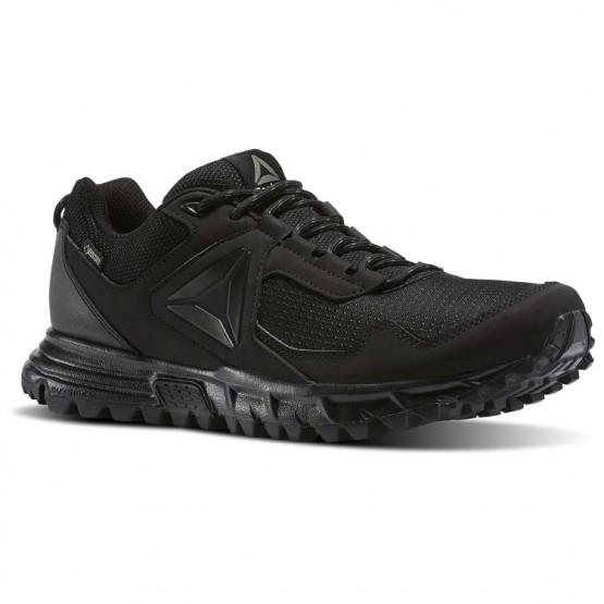 Reebok Sawcut Walking Shoes Mens Black/Ash Grey (127KZVYB)