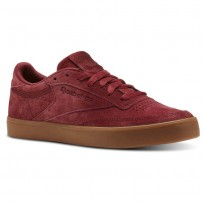 Reebok Club C 85 Shoes Womens Urban Maroon/Gum (127MGSBF)