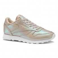 Reebok Classic Leather Shoes Womens Beige/Champagne/White (128SPWYR)