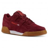 Reebok Workout Plus Shoes Mens Spg/Collegiate Burgundy/Carotene/White/Gum (130GIASB)
