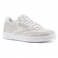 Chaussure Reebok Club C Fille Argent/Grise/Blanche (131ONAGL)