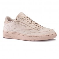 Reebok Club C 85 Shoes Mens Shell Pink/Gold Met (132GKYIP)