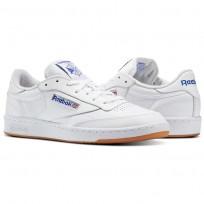 Reebok Club C 85 Shoes Mens Intense White/Royal-Gum (133UVIWS)