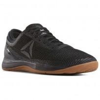 Reebok CrossFit Nano Shoes Mens Black/Reebok Rubber Gum/White (137LGSKJ)