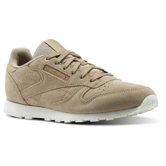 Chaussure Reebok Classic Leather Enfant Beige (137TMHRL)
