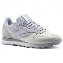 Chaussure Reebok Classic Leather Homme Grise/Grise/Blanche (147DVGWZ)