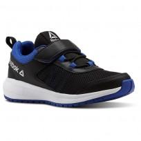 Reebok Road Supreme Running Shoes Boys Black/Vital Blue/White (150ZBGIN)
