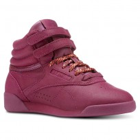 Reebok Freestyle HI Shoes Girls Face-Twisted Berry/White (157EWHDF)