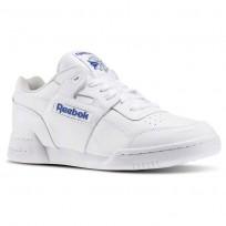 Reebok Workout Plus Shoes Mens White/Royal (167DZCWX)