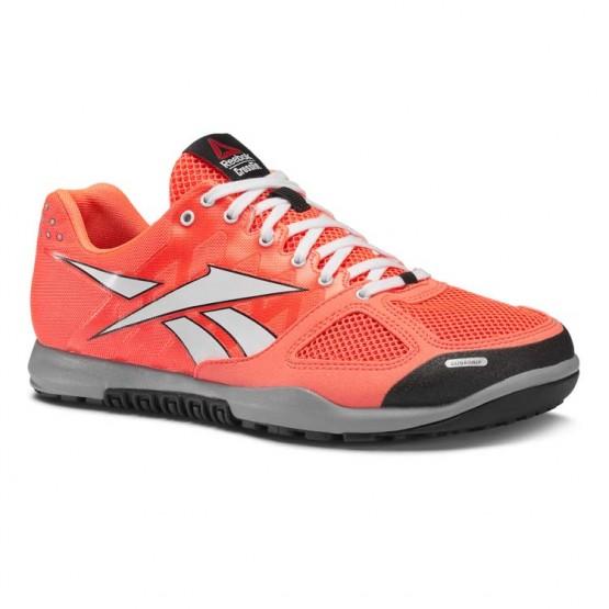 Reebok CrossFit Nano Shoes Womens Vitamin C/White/Black/Flat Grey (173UCQEX)