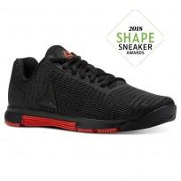 Reebok Speed TR Flexweave™ Training Shoes Womens Black/Carotene (174NZPRV)