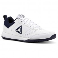 Reebok CXT Training Shoes Mens White/Collegiate Navy/Silver (174PEGXT)