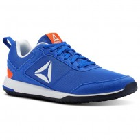 Reebok CXT TR Training Shoes Mens Vital Blue/Atomic Red/Wht/Silv/Collegiate Nvy (176HYQZD)