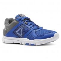 Reebok YourFlex Train 10 Training Shoes Boys Vital Blue/Alloy/White (177YGPOL)