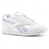 Chaussure Reebok Royal Classic Jogger Fille Blanche/Argent (180WDIGQ)