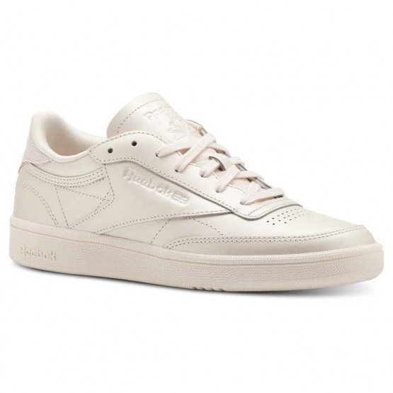 Reebok Club C 85 Shoes Womens Mid-Pale Pink (183WIVUL)