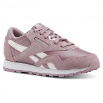 Reebok CL NYLON Shoes Girls Infused Lilac/White/Silver (184KERAC)