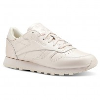 Reebok Classic Leather Shoes Womens Mid-Pale Pink (187FYNUX)