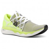 Reebok Floatride Run Running Shoes Mens White/Solar Yellow/Black (187KRUFP)