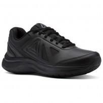 Reebok Walk Walking Shoes Womens Black/Alloy (189FQIHT)