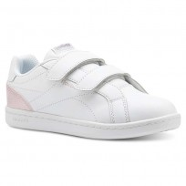 Chaussure Reebok Royal Comp Fille Blanche/Rose/Argent (192POUTG)