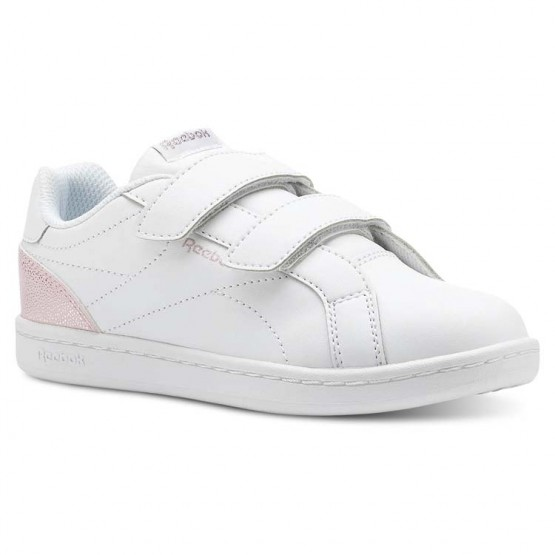 reebok royal comp παπουτσια για κοριτσια ασπρα/ροζ/ασημι (192poutg)