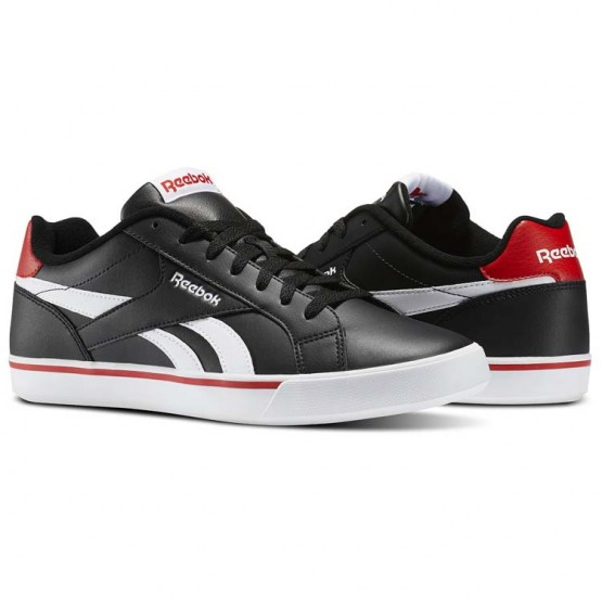 Reebok Royal Complete Shoes Mens Black/White/Riot Red (199ZDKYI)