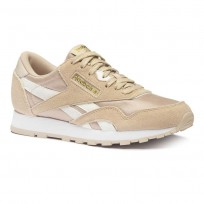 Reebok Classic Nylon Shoes Kids Bare Beige/Wht/Gold (201NKBRL)