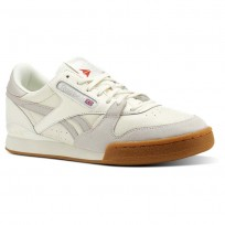 Chaussure Reebok Phase 1 Pro Homme Blanche/Grise/Rouge (208TFMJK)