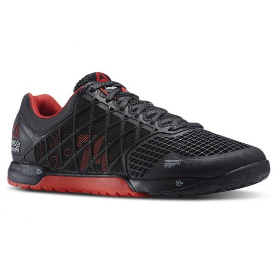Reebok CrossFit Nano Shoes Mens Black/China Red/Gravel (211XAOFE)