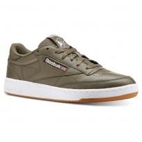 Reebok Club C 85 Shoes Mens Fg-Terrain Grey/White/Gum (212YFIDL)