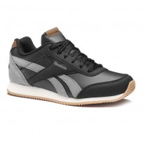 Reebok Royal Classic Jogger Shoes Boys Outdoor/Black/Graphite/Cream Wht/Gum (213GJBHO)