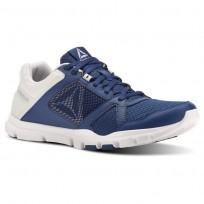 Reebok YourFlex Train 10 Training Shoes Mens Bunker Blue/Spirit White/Cloud Grey (215MIWHT)