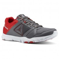 Reebok YourFlex Train 10 Training Shoes Mens Shark/Primal Red/White (218CPUWY)