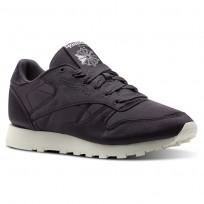 Reebok Classic Leather Shoes Womens Purple/Smoky Volcano/Classic White (219TKSCH)