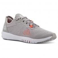 Reebok Flexagon Training Shoes Womens Whisper Grey/Atomic Red/Spirit White (229JKUXZ)