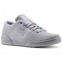 Reebok Workout Shoes Womens Cloud Grey/White (231RCLWY)