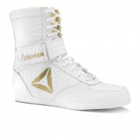 Reebok Boxing Tactical Shoes Mens White/Gold (232JVFYT)