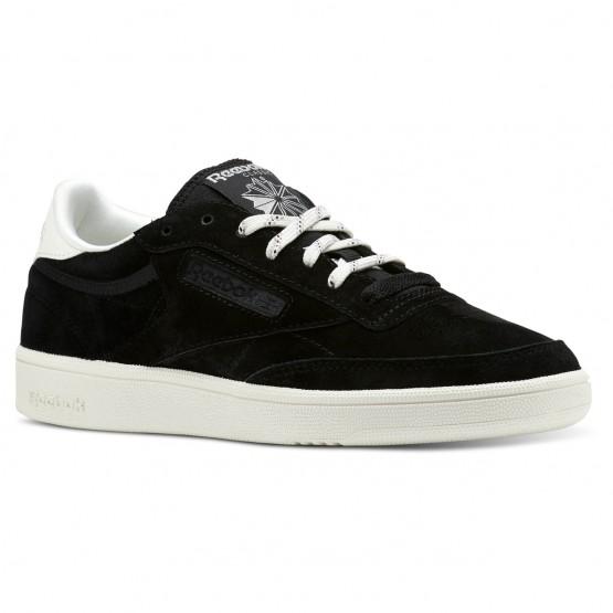 Reebok Club C 85 Shoes Womens Premium Basic 2-Black/Chalk (235GAHFR)