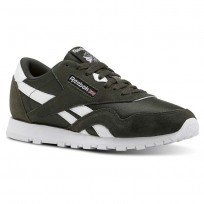 Reebok Classic Nylon Shoes Kids Dark Cypress/White (237MTAXS)